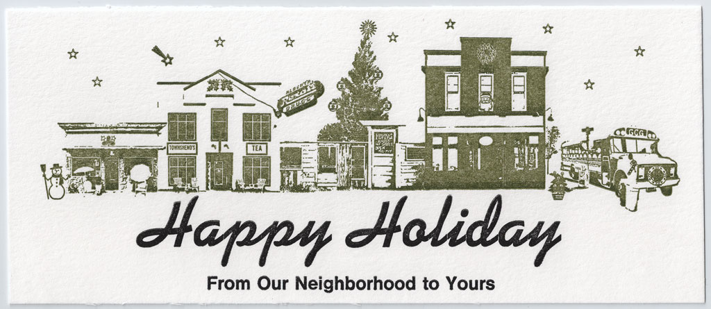 Happy Holiday's from Alberta District, Portland, OR